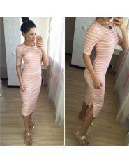 Платье-полоска